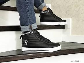 Чоловічі високі кросівки (термо) Converse All Star,чорно-білі 44,46 р, фото 2
