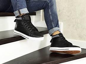 Чоловічі високі кросівки (термо) Converse All Star,чорно-білі 44,46 р, фото 3