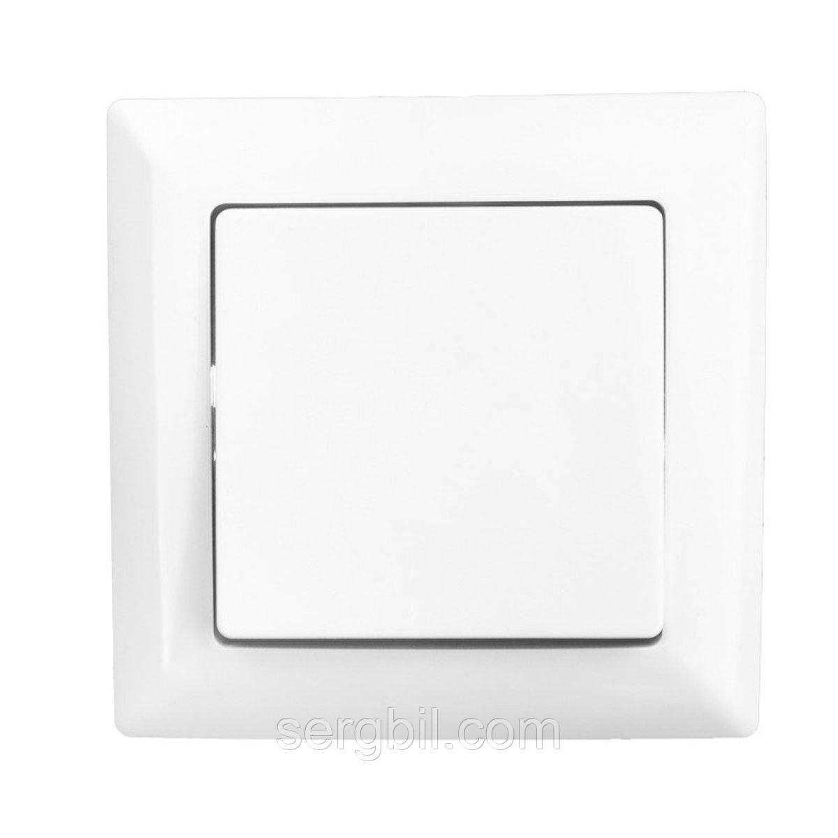 Вимикач з 1 клавішею Lectris білий LCI001