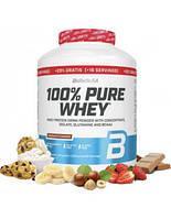 Сывороточный протеин BioTech 100% Pure Whey 2270 гр + 454 гр FREE (вкусы в ассортименте)