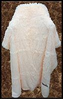 Покривало/плед (штучне хутро 2кг) 220*240 Довгий ворс (персиковий)