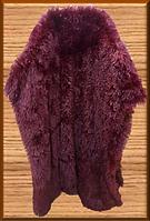 Покривало/плед (штучне хутро 2кг) 220*240 Довгий ворс (бордовий)