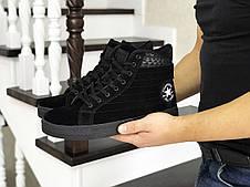 Мужские высокие кроссовки (термо) Converse All Star,черные 44р, фото 3