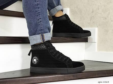 Мужские высокие кроссовки (термо) Converse All Star,черные 44р, фото 2