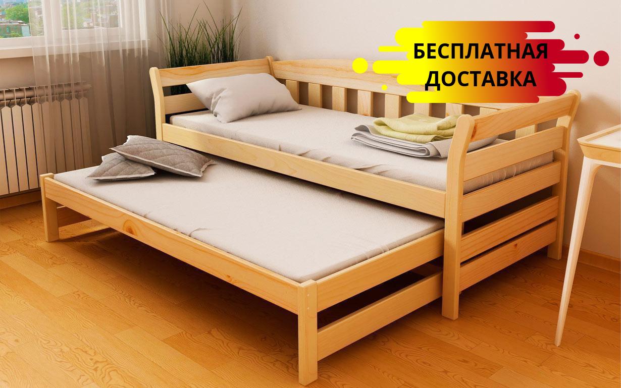 Кровать двухуровневая Тедди Дуо 80х160 см. ЛунаМебель