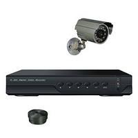 """Комплект видеонаблюдения +HDD 250Gb в подарок, 1-но камерный для улицы 800 TVL, """"Установи сам"""" (DVR KIT 1N)"""