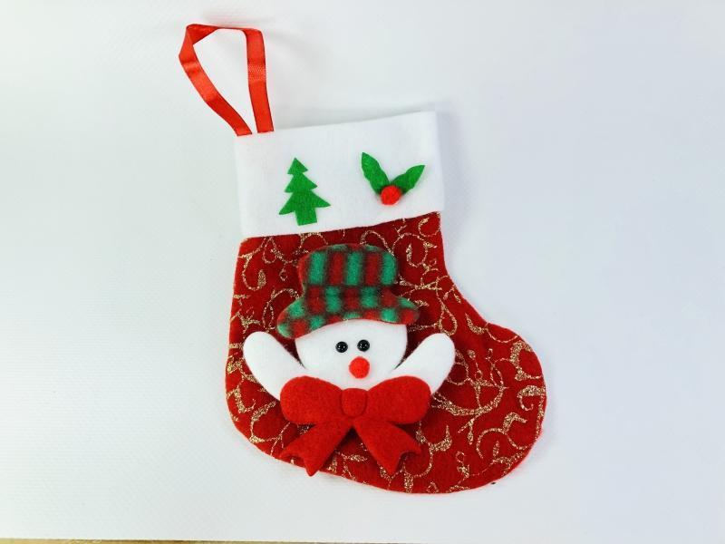 Новогодний носок со снеговиком