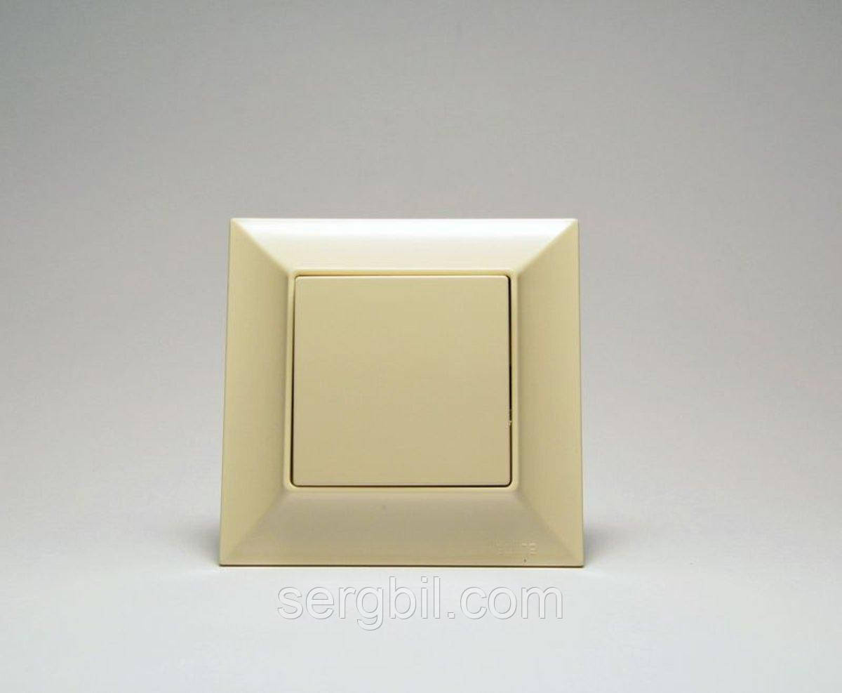 Выключатель одноклавишный с подсветкой GUNSAN Neoline Белый