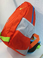 Рюкзак Найк 0447 ярко оранжевый с лимонным код 496А