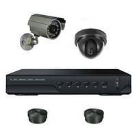 "Комплект видеонаблюдения +HDD 250Gb в подарок, 2-х камерный 800 TVL ""Установи сам"" (DVR KIT 1V1N)"