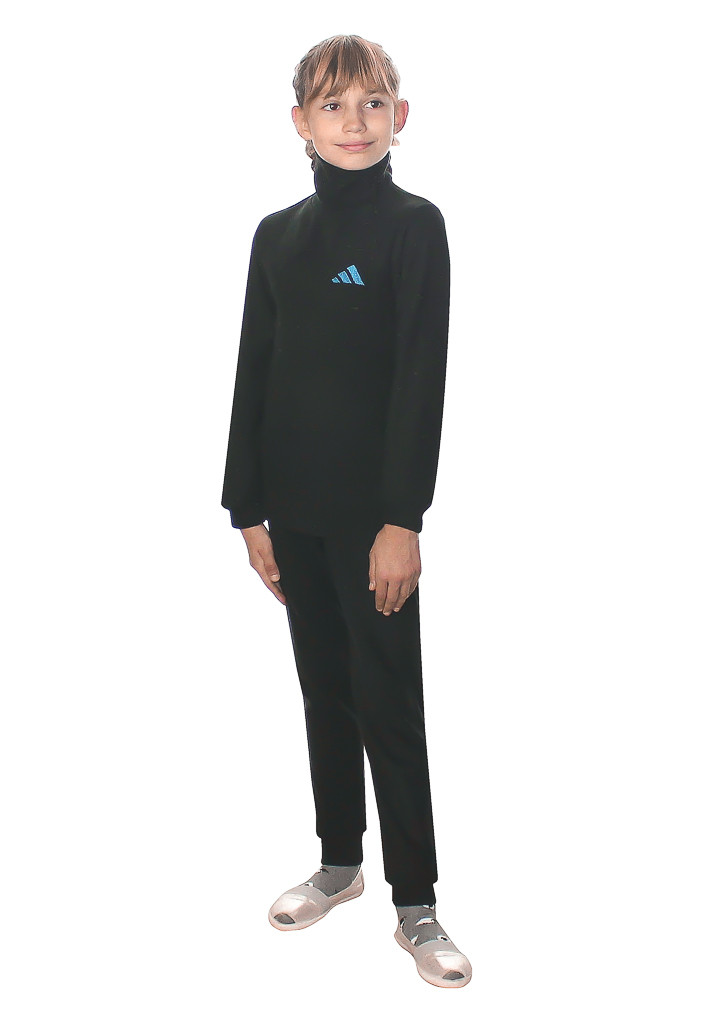 Детское термобелье с воротником черного цвета - фото teens.ua
