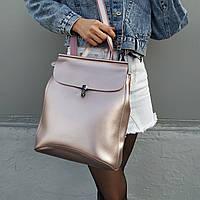 "Женский кожаный рюкзак ""Кристи Bright pink"", фото 1"