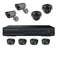 "Комплект видеонаблюдения на 4 камеры + HDD 500Gb в подарок, 800 TVL ""Установи сам"" (DVR KIT 2V2N)"