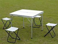 Раскладной стол + 4 стула, туристический набор, фото 1