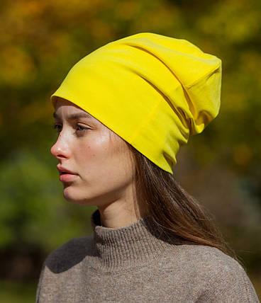 Шапка чулок желтая, фото 2
