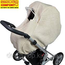 Дощовик-вітрозахист на коляску-люльку зима (Kinder Comfort, бежевий)