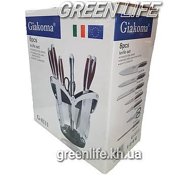 Набор ножей из нержавеющей стали c подставкой Giacoma