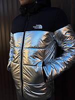 Мужская зимняя куртка THE NORTH FACE серый с черным