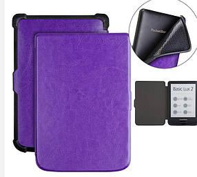 Чохол обкладинка PocketBook 627 616 632 Автосон Фіолетовий пурпурний