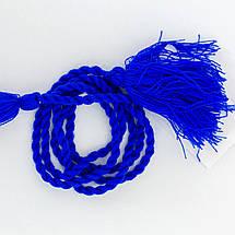 Пояс шнурок под вышиванку синий, фото 2