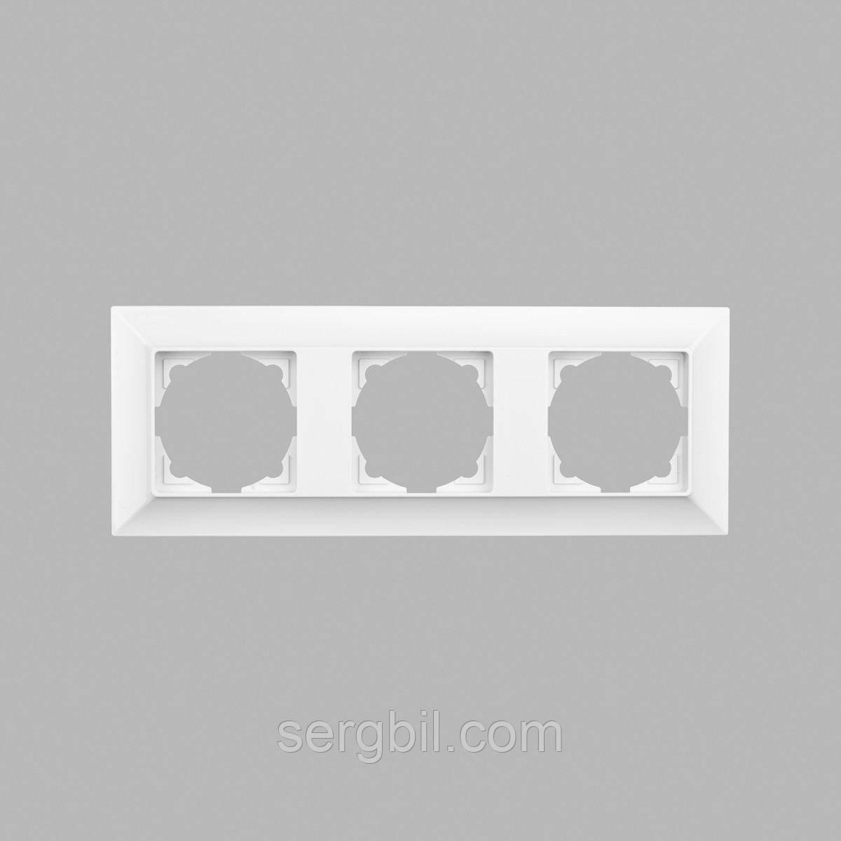 Рамка тройная GUNSAN Neoline Белая