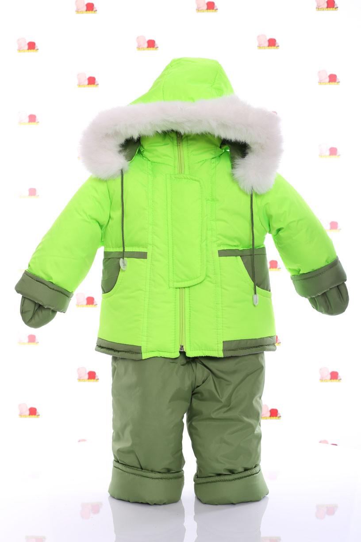 Зимний комбинезон на овчине Ноль Подстежка от 6 месяцев до 1,5 лет (до 86см) салатовый