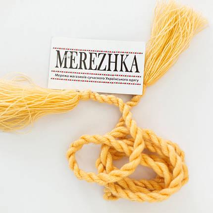 Пояс шнурок под вышиванку бежевый, фото 2