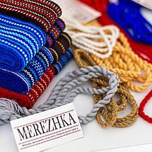 Пояс шнурок под вышиванку бежевый, фото 3