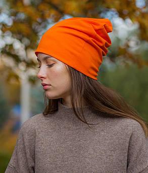 Шапка чулок оранжевая, фото 2