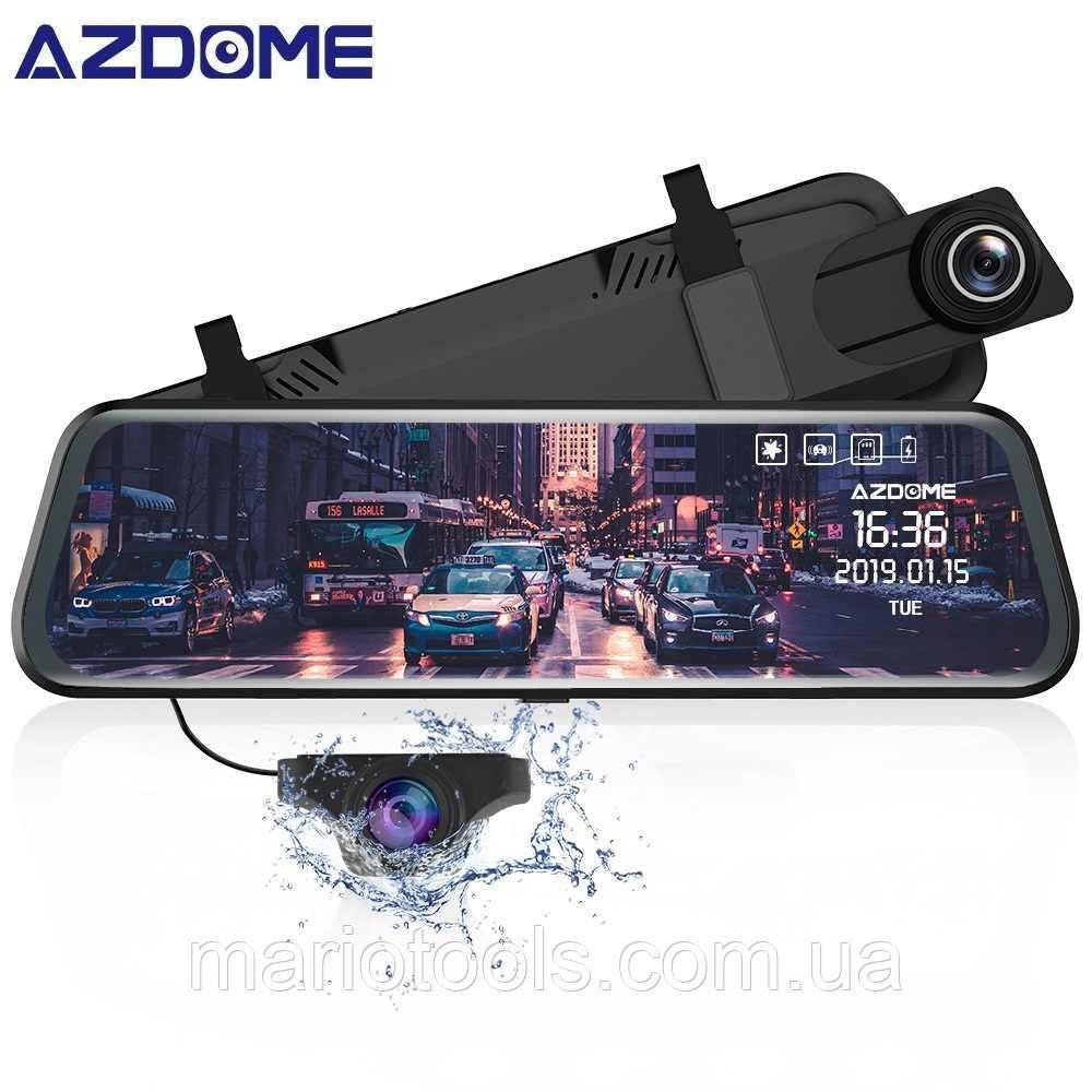 Видеорегистратора зеркала DVR E106 с двумя камерами 1080P 10'