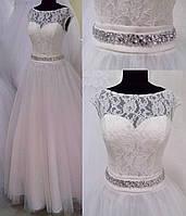 Свадебное платье Л-130 (айвори)