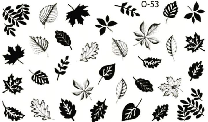 Водные наклейки (слайдер дизайн) для ногтей O-53