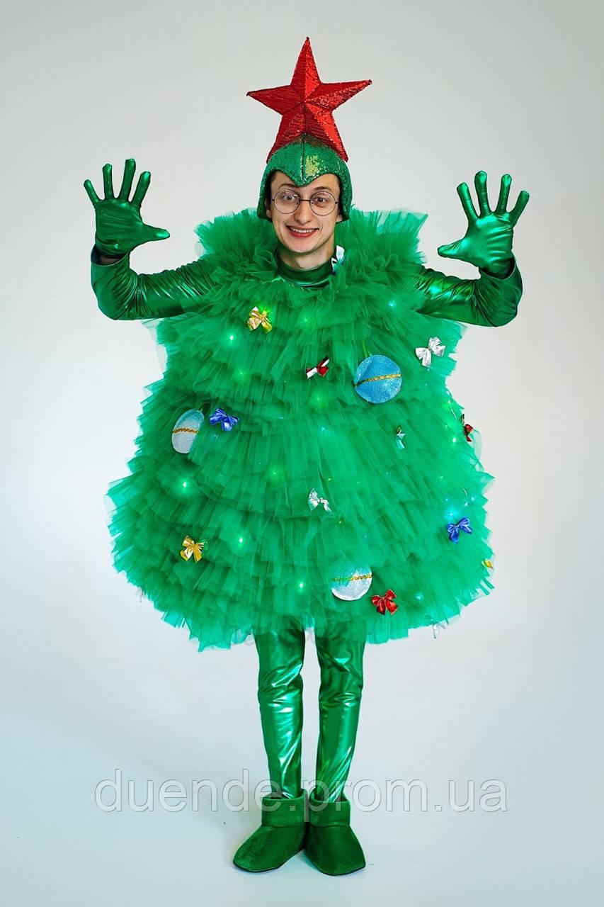 Фьека Елки светящийся женский карнавальный костюм / BL - ВЖ334