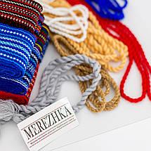 Тканный пояс крайка к вышиванке бордовый, фото 2