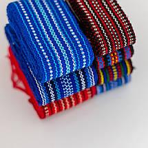 Тканный пояс крайка к вышиванке бордовый, фото 3