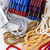 Тканный пояс крайка к вышиванке бордовый, фото 4