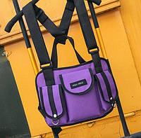Нагрудная Поясная Сумка Бронежилет City-A Hgul+Bag Big Size Фиолетовый, фото 1