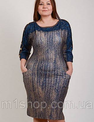 Красивое платье больших размеров (Узор елочка tur), фото 2