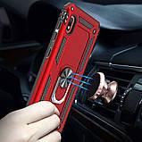 Ударопрочный чехол Serge Ring магнитный держатель для Samsung Galaxy A10 (A105F), фото 3