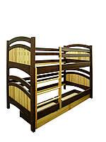 Кровать двухъярусная из натурального дерева