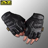 """Перчатки беспалые """"Mechanix. M-Pact"""" (черные). тактические перчатки, боевые, штурмовые"""