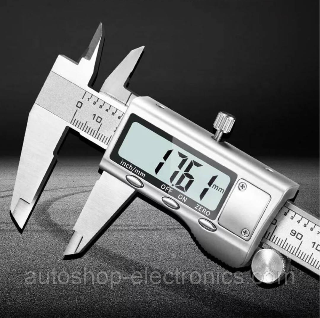 Штангенциркуль электронный металлический 150 мм / Высокоточный цифровой микрометр (шаг 0.01 мм)