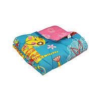 """Одеяло детское 140х105 шерстяное дизайн  """"Yellow cat"""""""