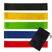 Фитнес резинки 5 шт., натуральный латекс + сумка для хранения., фото 2