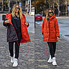 Стильна молодіжна осінньо-зимова двостороння куртка з капюшоном, норма і батал великі розміри, фото 9