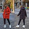 Стильна молодіжна осінньо-зимова двостороння куртка з капюшоном, норма і батал великі розміри, фото 10