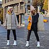 Стильна молодіжна осінньо-зимова двостороння куртка з капюшоном, норма і батал великі розміри, фото 4