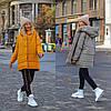 Стильна молодіжна осінньо-зимова двостороння куртка з капюшоном, норма і батал великі розміри, фото 2