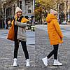 Стильна молодіжна осінньо-зимова двостороння куртка з капюшоном, норма і батал великі розміри, фото 5