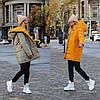 Стильна молодіжна осінньо-зимова двостороння куртка з капюшоном, норма і батал великі розміри, фото 3